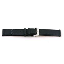 Prawdziwy Skóra Pasek Do Zegarka Czarny 18mm Z Szwy Ex-J46