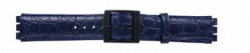 Strap Dla Swatch Krokodyla Niebieski 17mm Pvk-Sc10.05