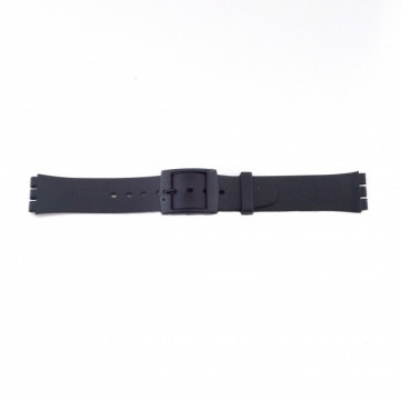 Swatch (Vervangend) Pasek Do Zegarka Pvk P51 Guma / Plastic Czarny 17mm