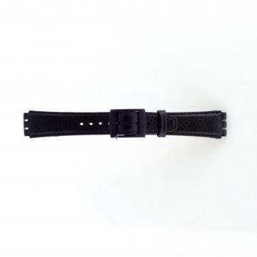 Strap Appropriate To Swatch Czarny 17mm Pvk-Sc04.01