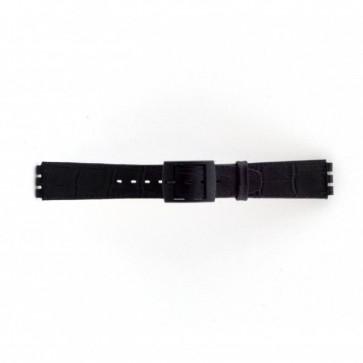 Strap Dla Swatch Krokodyla Czarny 16mm Pvk-Sc16.01