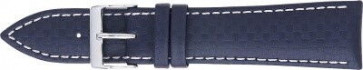Włókno Węglowe Pasek Do Zegarka Ciemny Niebieski Z Biały Szwy 24mm Pvk-321