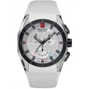 Pasek do zegarka Swiss Military Hanowa 06-4191.33.001 Skórzany Biały