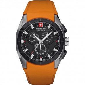 Pasek do zegarka Swiss Military Hanowa 06-4191.33.007.79 Skórzany Pomarańczowy