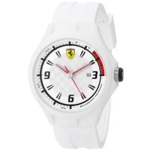 Ferrari horlogeband SF101.1 / 0830003 / SF689309000 / Scuderia Rubber Wit 22mm