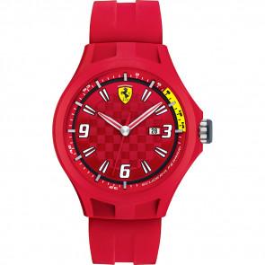 Ferrari horlogeband 0830007 / SF689300005 / Scuderia Rubber Rood 22mm