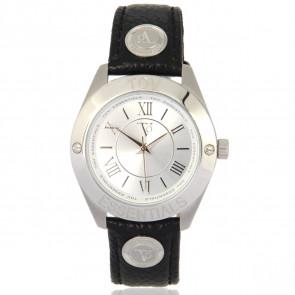 TOV Essentials horlogeband 1455 / TOV Leder Zwart 18mm + zwart stiksel