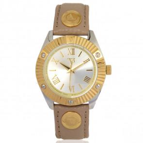 TOV Essentials horlogeband 1463 / TOV Leder Lichtbruin 18mm + beige stiksel