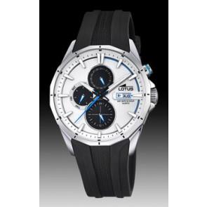 Lotus horlogeband 18320/1 Silicoon Zwart