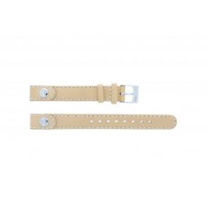 Lacoste horlogeband 2000385 / LC-05-3-14-0009 / BE Leder Beige 12mm + standaard stiksel