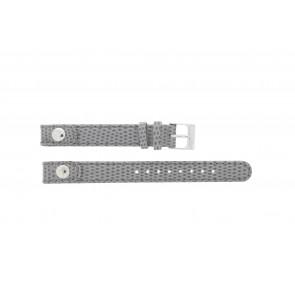 Lacoste horlogeband 2000385 / LC-05-3-14-0009 / GR Leder Grijs 12mm + grijs stiksel