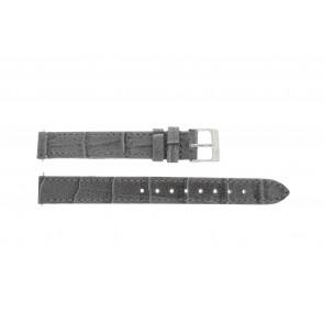 Lacoste horlogeband 2000514 / LC-05-3-14-0167 Leder Grijs 13mm + standaard stiksel