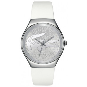 Lacoste horlogeband 2000785 / LC-71-3-14-2444 Silicoon Wit 18mm