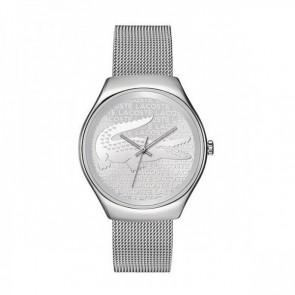 Lacoste horlogeband 2000810 / LC-71-3-14-2469 Staal Zilver 18mm