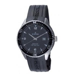 Edox horlogeband 267961 / 70158 Rubber Zwart