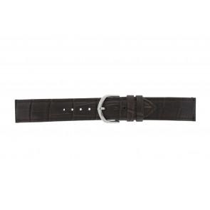 Olympic horlogeband 26HSL057 Leder Donkerbruin 20mm + standaard stiksel