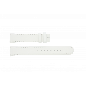 Boccia horlogeband BO3186-01-40W Leder Wit 19mm + standaard stiksel