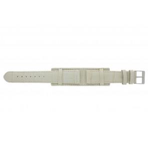 Horlogeband 61325.12.20 Leder Beige 20mm + beige stiksel