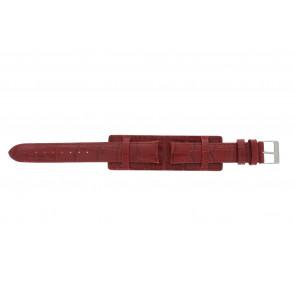Horlogeband 61325.45.16 Leder Rood 16mm + rood stiksel