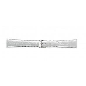 Morellato horlogeband Amadeus G.Croc Glans U0518052017CR22 / PMU017AMADEC22 Krokodillenleer Wit 22mm + standaard stiksel
