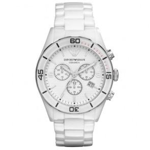 Pasek do zegarka Armani AR1424 Ceramika Biały
