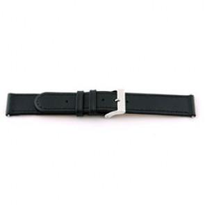 Prawdziwy Skóra Pasek Do Zegarka 20mm Czarny Z Szwy EX-G100