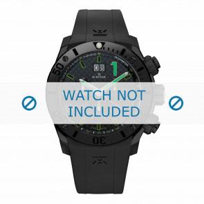 Edox horlogeband 10020-37N-NV Silicoon Zwart