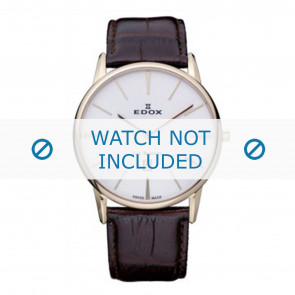 Edox horlogeband 26023-37R-BR Leder Bruin 22mm + standaard stiksel