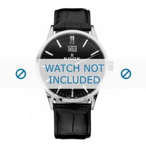 Edox horlogeband 63001-3-NIN Leder Zwart 21mm + standaard stiksel