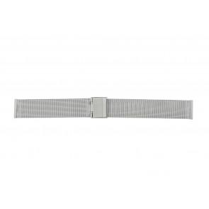 Other brand horlogeband E-ST-ZIL-18 Staal Zilver 18mm