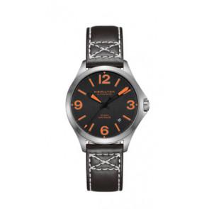 Pasek do zegarka Hamilton H76235731 Skórzany Czarny 19mm