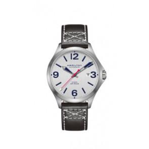 Pasek do zegarka Hamilton H76525751 Skórzany Czarny 20mm