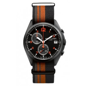 Pasek do zegarka Hamilton H76582933 Tekstylia Wielobarwność 22mm