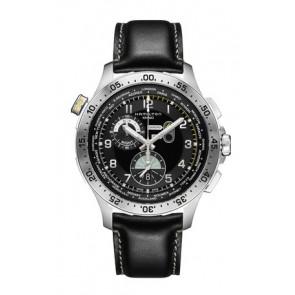 Pasek do zegarka Hamilton H76714735 Skórzany Czarny 22mm