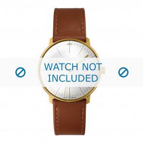 Junghans horlogeband 027/7700.00 Leder Cognac 20mm + standaard stiksel