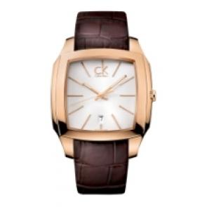 Calvin Klein horlogeband K600.000.095 Leder Bruin 20mm