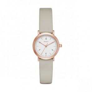 Pasek do zegarka DKNY NY2514 Skórzany Kolor ciemnoszary 14mm