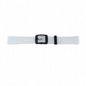 Other brand horlogeband P51.14 Kunststof / Plastic Transparant 17mm