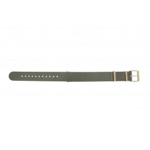 Timex horlogeband PW2P98500 Leder Taupe 18mm + beige stiksel