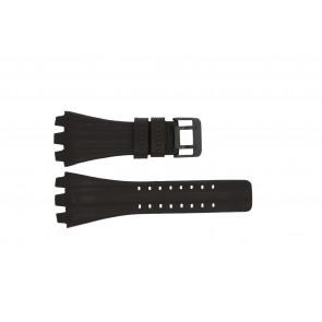 Police horlogeband 12079BR / 12079JSB/05A / 12079JS-02  Leder Donkerbruin 36mm