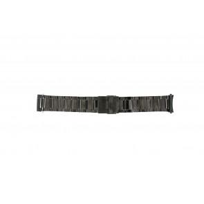 Horlogeband QQ24ZWRD Staal Antracietgrijs 24mm