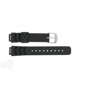 Lorus horlogeband R2365AX-9 Rubber Zwart 14mm