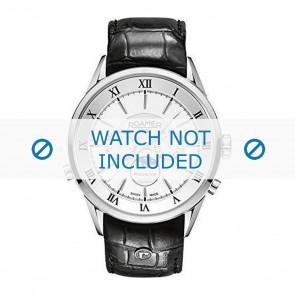 Roamer horlogeband 508821-41-13-05 Leder Zwart 22mm + standaard stiksel