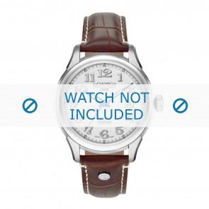 Roamer horlogeband 545660-41-16-05 Leder Bruin 18mm + wit stiksel