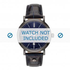 Roamer horlogeband 936950-40-45-09 Leder Blauw 22mm + standaard stiksel
