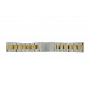 Other brand horlogeband 1014-18-BI Staal Bi-Color 18mm