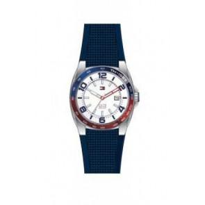 Pasek do zegarka Tommy Hilfiger TH1790885 Gumowy Niebieski