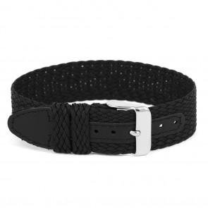 Horlogeband WC26 Nylon / perlon Zwart 12mm