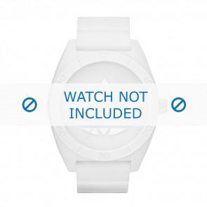 Adidas horlogeband ADH2711 Rubber Wit 24mm