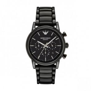 Pasek do zegarka Armani AR1507 Ceramika Czarny